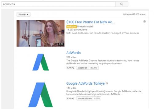 Youtube Discovery Reklamları